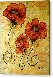 Poppy-art Acrylic Print