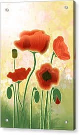 Poppy Mountain Meadow Acrylic Print by Melisa Meyers