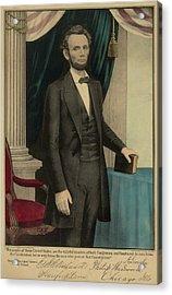Popular Print Of President Abraham Acrylic Print by Everett