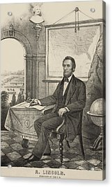 Popular Print Of President Lincoln Made Acrylic Print by Everett