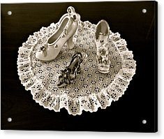 Porcelain And Lace Acrylic Print
