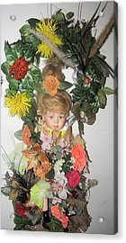 Porcelain Doll Arrangement Acrylic Print by HollyWood Creation By linda zanini
