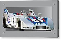 Porsche 908-3 Martini Acrylic Print by Alain Jamar