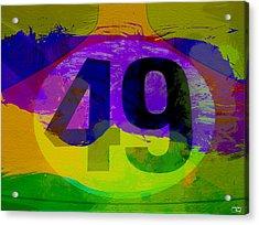 Porsche 911 Number 49 Acrylic Print by Naxart Studio