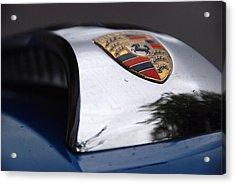 Acrylic Print featuring the photograph Porsche Super 90 Marque by John Schneider