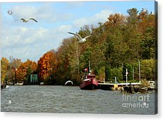 Acrylic Print featuring the photograph Port Dover Harbour by Barbara McMahon