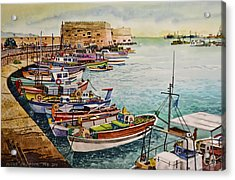 Port Of Heraklion Acrylic Print