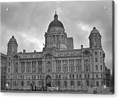 Port Of Liverpool Building Acrylic Print by Georgia Fowler