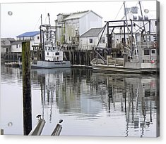 Port Of Nahcotta Acrylic Print by Pamela Patch