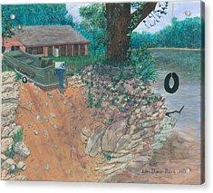 Portage River Cabin Acrylic Print by Lori  Theim-Busch
