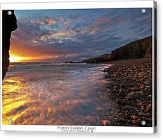 Acrylic Print featuring the photograph Porth Swtan Cove by Beverly Cash