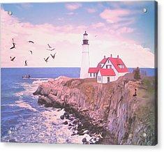 Portland Dawn Acrylic Print