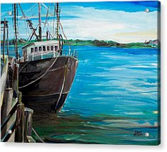 Portland Harbor - Home Again Acrylic Print by Scott Nelson