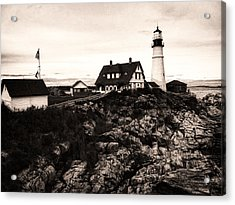 Acrylic Print featuring the photograph Portland Head by Kelly Reber