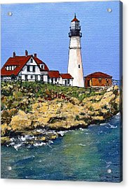 Portland Head Light House Acrylic Print by Randy Sprout
