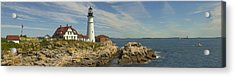 Portland Head Light Panorama  Acrylic Print
