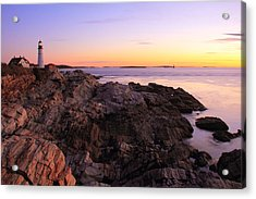Portland Head Lighthouse Seascape Acrylic Print by Roupen  Baker