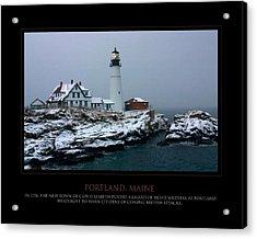 Portland Headlight Acrylic Print by Jim McDonald Photography