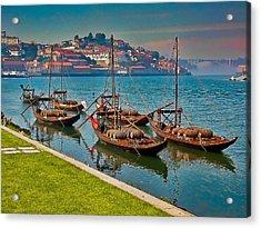 Porto Barges Acrylic Print by Scott Massey