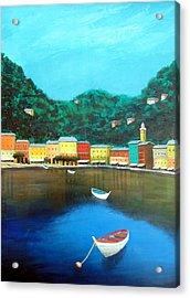 Portofino Acrylic Print by Larry Cirigliano