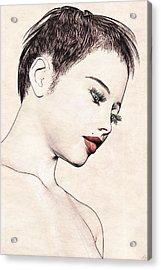 Portrait - No. 10 - Red Lips Acrylic Print