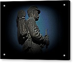 Portrait 31 American Civil War Acrylic Print by David Dehner