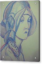 Portrait Acrylic Print by Aleksandra Buha