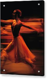 Portrait Of A Ballet Dancer Bathed Acrylic Print by Michael Nichols