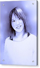 Portrait Of A Japanese Girl Acrylic Print