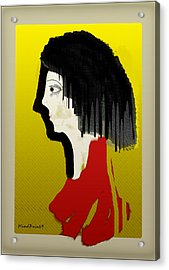 Portrait Of A Little Lady Acrylic Print by Asok Mukhopadhyay