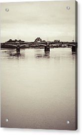 Acrylic Print featuring the photograph Portrait Of A London Bridge by Lenny Carter
