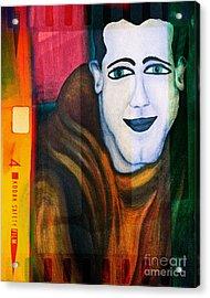 Portrait Of A Man 3 Acrylic Print by Emilio Lovisa