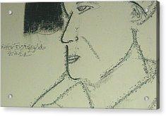 Portrait Of A Shopkeeper Bust Acrylic Print by Samson Agegnehu