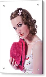 Acrylic Print featuring the photograph Portrait Of A Woman by Jim Boardman
