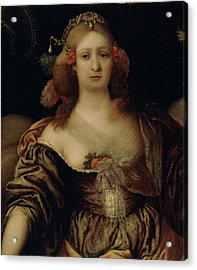 Portrait Of A Young Woman  Acrylic Print by Girolamo Forabosco