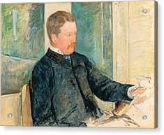 Portrait Of Alexander J. Cassatt Acrylic Print by Mary Stevenson Cassatt