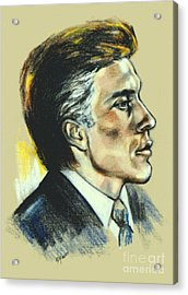 Portrait Of An Actor Acrylic Print by Elinor Mavor