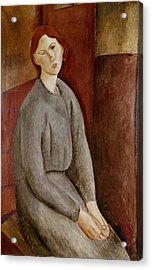 Portrait Of Annie Bjarne Acrylic Print by Amedeo Modigliani