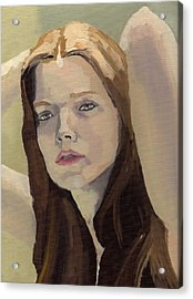 Acrylic Print featuring the painting Portrait Of Ashley by Stephen Panoushek