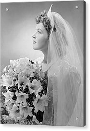Portrait Of Bride Acrylic Print by George Marks