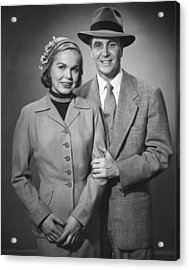 Portrait Of Couple Acrylic Print by George Marks