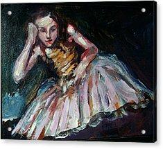Portrait Of Dakota Fanning Acrylic Print