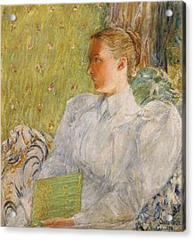 Portrait Of Edith Blaney Acrylic Print by Childe Hassam