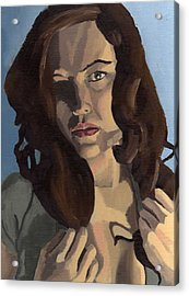 Acrylic Print featuring the painting Portrait Of Emily Ann by Stephen Panoushek