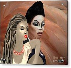 Portrait Of Inner Beauty Acrylic Print by Belinda Threeths