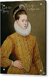 Portrait Of James I Of England And James Vi Of Scotland  Acrylic Print by Adrian Vanson