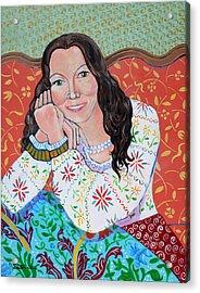 Portrait Of Kim Acrylic Print by John Keaton