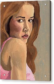 Acrylic Print featuring the painting Portrait Of Laia by Stephen Panoushek