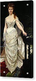 Portrait Of Mademoiselle X Acrylic Print by Charles Emile Auguste Carolus Duran