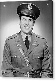 Portrait Of Man In Uniform Acrylic Print by George Marks